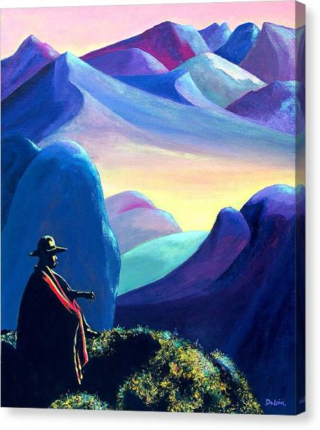 Man Meditating Canvas Print