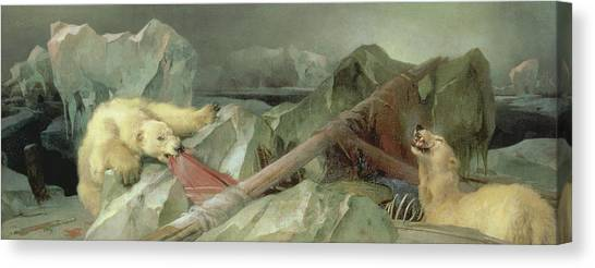 Polar Bear Canvas Print - Man Proposes, God Disposes, 1864 by Sir Edwin Landseer