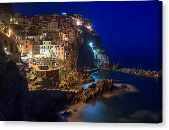Manarola At Night Canvas Print