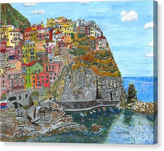 Manarola In Cinque Terra Canvas Print