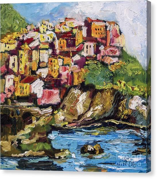 Manarola Italy Cinque Terre Canvas Print