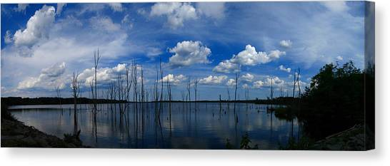 Manasquan Reservoir Panorama Canvas Print