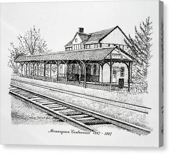 Manasquan Train Station Canvas Print