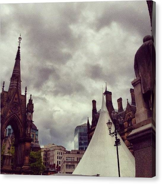 Jazz Canvas Print - #manchester #cloudporn #clouds by Christelle Vaillant