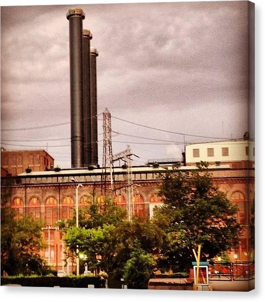 Rhode Island Canvas Print - Manchester Street Power Station by Jason Fourquet