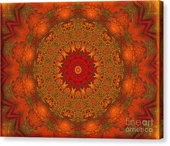 Mandala Of The Rising Sun - Spiritual Art By Giada Rossi Canvas Print
