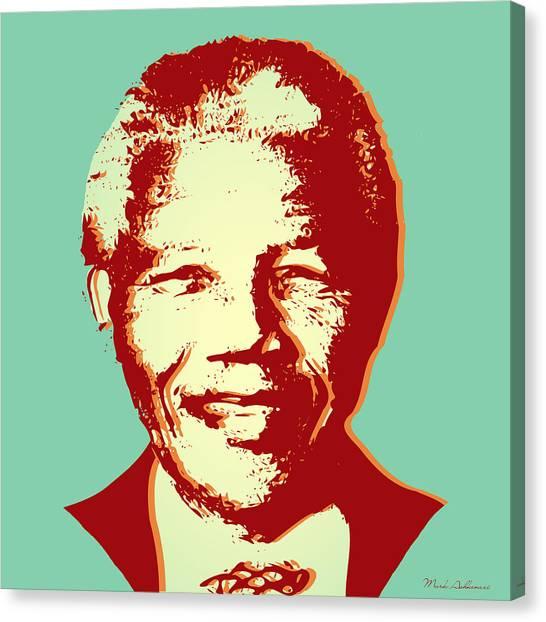 Nelson Mandela Canvas Print - Mandela by Mark Ashkenazi