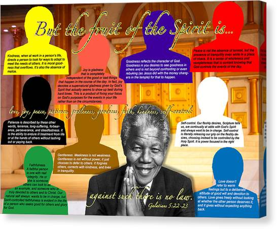 Mandela's Rainbow With Scripture Canvas Print