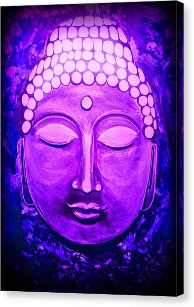 Canvas Print featuring the painting Mandi's Buddha by Michelle Dallocchio