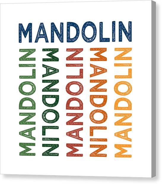 Mandolins Canvas Print - Mandolin Cute Colorful by Flo Karp