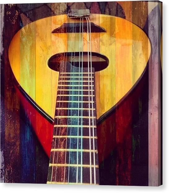 Mandolins Canvas Print - #mandolin #mandolino #corde #ponticello by Michele Stuppiello