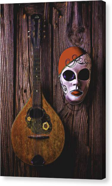 Treasure Box Canvas Print - Mandolin Still Life by Garry Gay