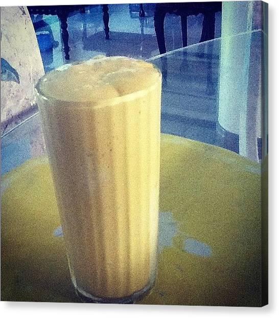 Mangos Canvas Print - Mango Graham Shake!  #yum #beverage by Audrey Rebuchii