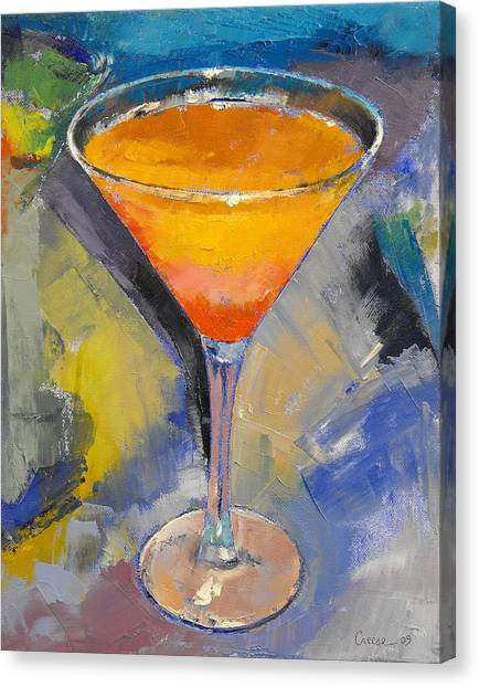 Tangerines Canvas Print - Mango Martini by Michael Creese