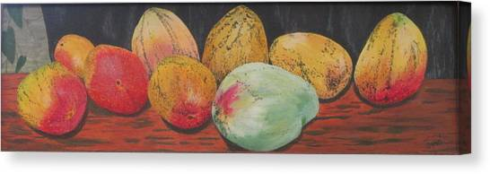 Mangoes On The Barbie Canvas Print