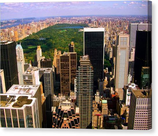 Manhattan And Central Park Canvas Print