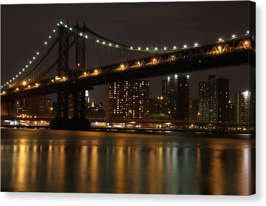 Manhattan Bridge 3019-48 Canvas Print by Deidre Elzer-Lento
