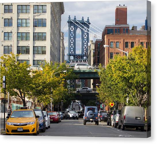 Manhattan Bridge From Dumbo Canvas Print