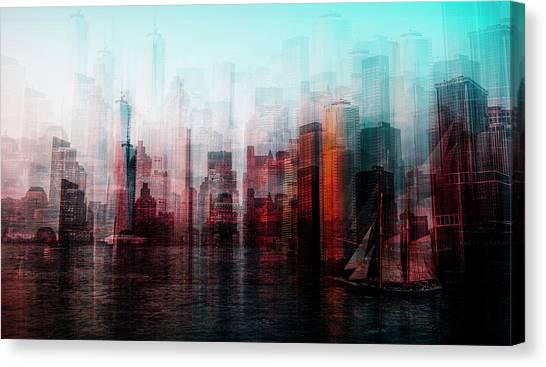 Metropolis Canvas Print - Manhattan by Carmine Chiriaco'