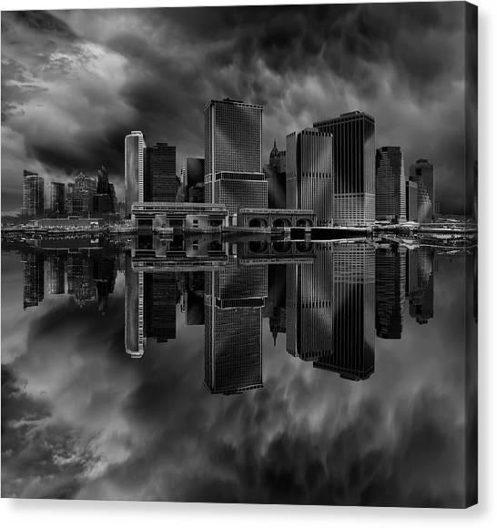 City Landscape Canvas Print - Manhattan by Martin Zalba