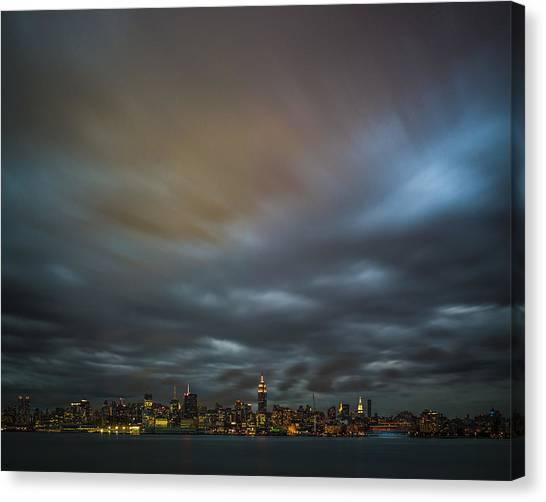 Manhattan On The Horizon Canvas Print by Chris Halford