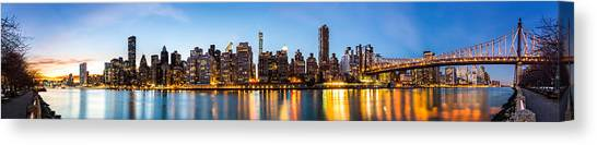 Manhattan Panorama And Queensboro Bridge Canvas Print
