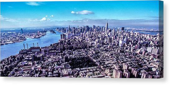 Manhattan Seen From North  Canvas Print by Kim Lessel