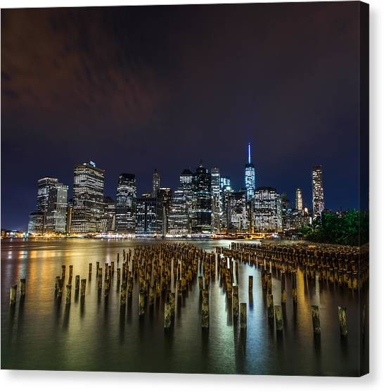 Times Square Canvas Print - Manhattan Skyline - New York - Usa by Larry Marshall