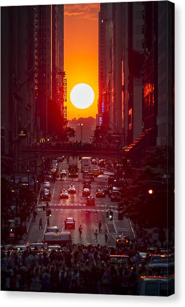 Manhattanhenge Canvas Print