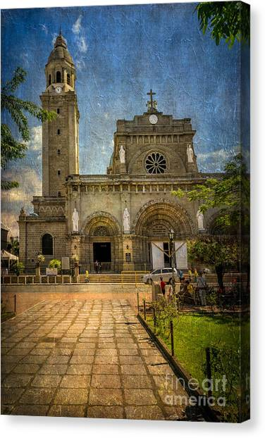 Romanesque Art Canvas Print - Manila Cathedral by Adrian Evans
