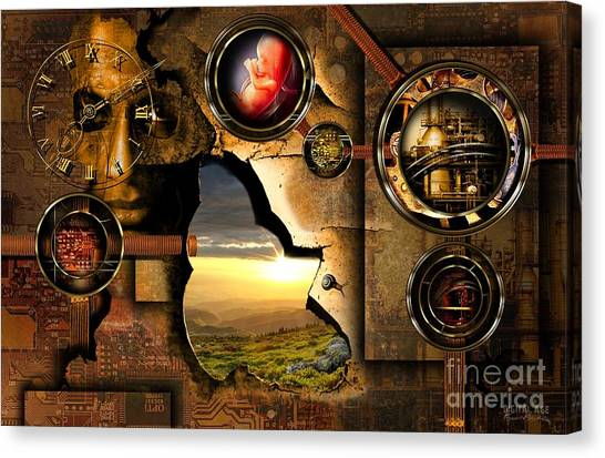 Manipulation Of The Human Reality Canvas Print