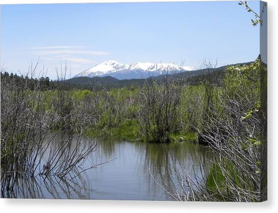 Lake Manitou Sp Woodland Park Co Canvas Print