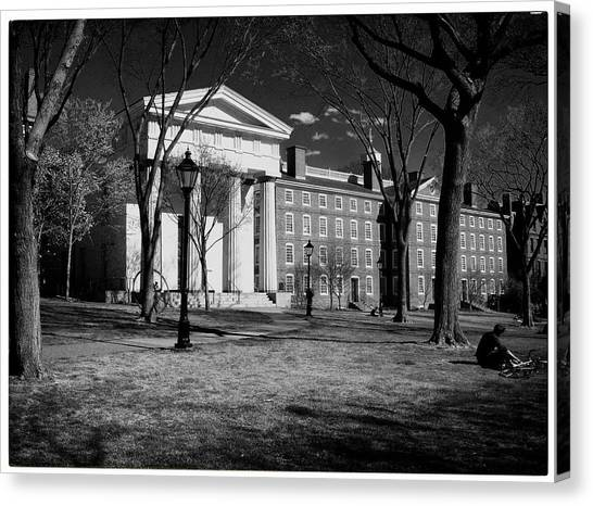 Brown University Canvas Print - Manning Hall Brown Campus by Georgia Fowler