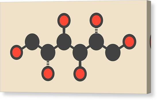 Mannitol Molecule Canvas Print by Molekuul