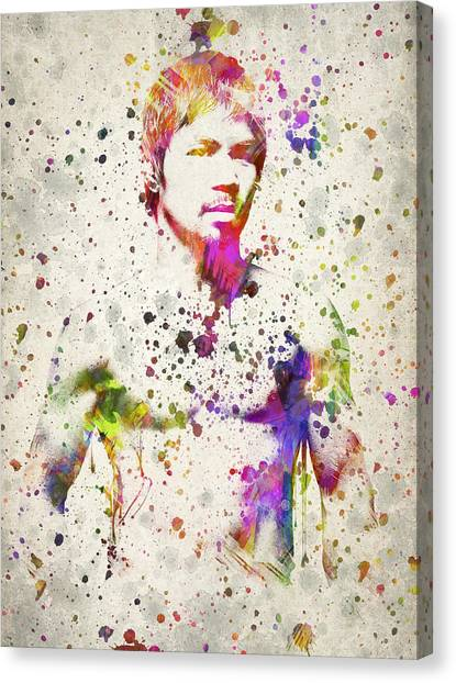 Manny Pacquiao Canvas Print - Manny Pacquiao by Aged Pixel