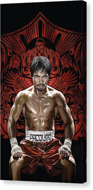 Manny Pacquiao Canvas Print - Manny Pacquiao Artwork 1 by Sheraz A