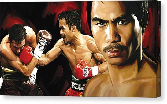 Manny Pacquiao Canvas Print - Manny Pacquiao Artwork 2 by Sheraz A