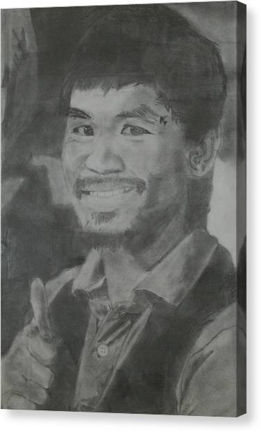 Manny Pacquiao Canvas Print - Manny Pacquiao by Terence Leano