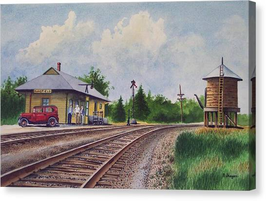 Mansfield Railroad Station Canvas Print