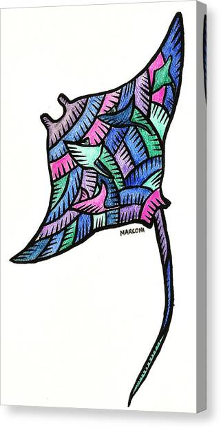 Manta Ray 2009 Canvas Print by Marconi Calindas