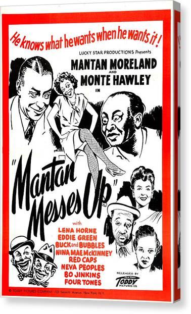 Head Tilt Canvas Print - Mantan Messes Up, Us Poster, Top by Everett