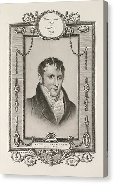 American Independance Canvas Print - Manuel Belgrano by British Library