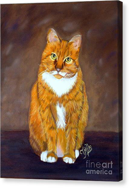 Manx Cats Canvas Print - Manx Cat by Terri Mills