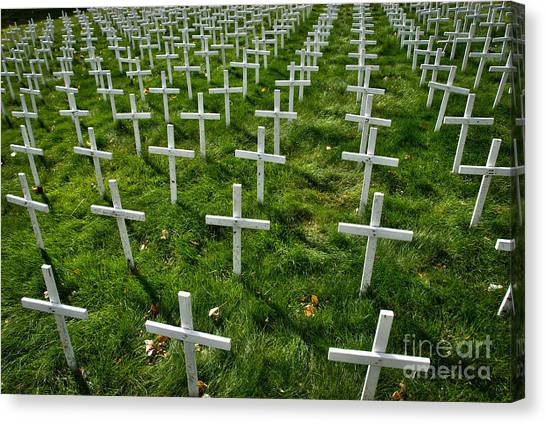 Abortion Canvas Print - Many Crosses by Amy Cicconi