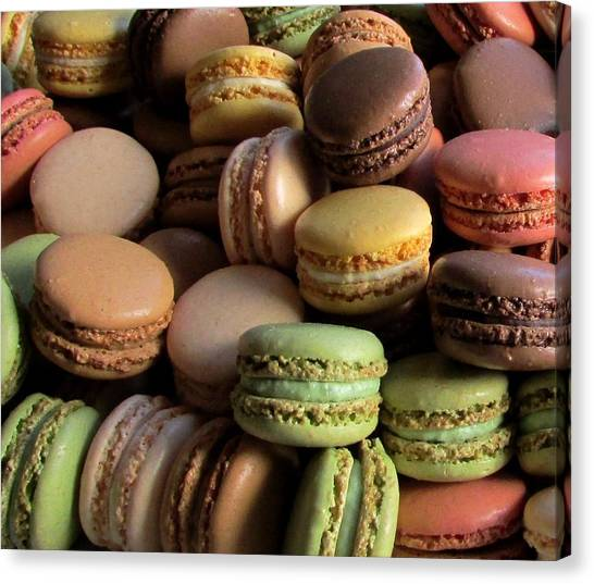 Many Mini Macarons Canvas Print