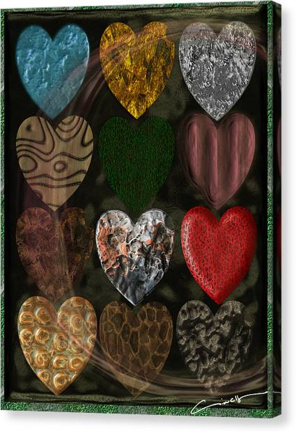 Many Types Of Love Canvas Print