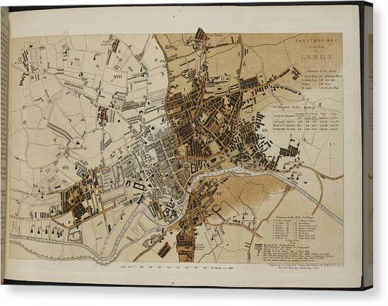 Principals Canvas Print - Map Of Leeds by British Library