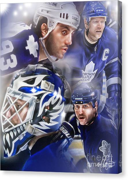 Toronto Maple Leafs Canvas Print - Maple Leafs by Mike Oulton