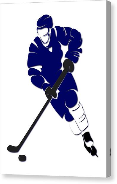 Toronto Maple Leafs Canvas Print - Maple Leafs Shadow Player by Joe Hamilton