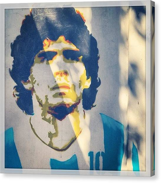 Fifa Canvas Print - #maradona #bocajuniors #napoli by Inca Foto